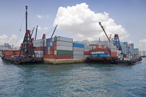 hong-kong-container-handling
