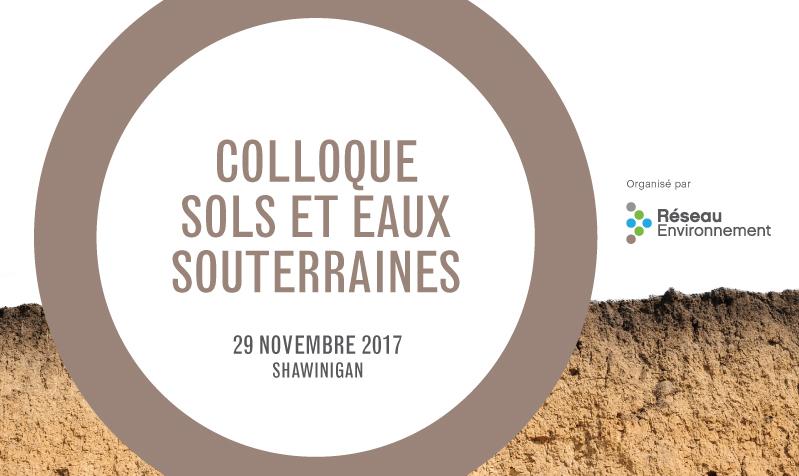 Colloque sols et eaux souterraines