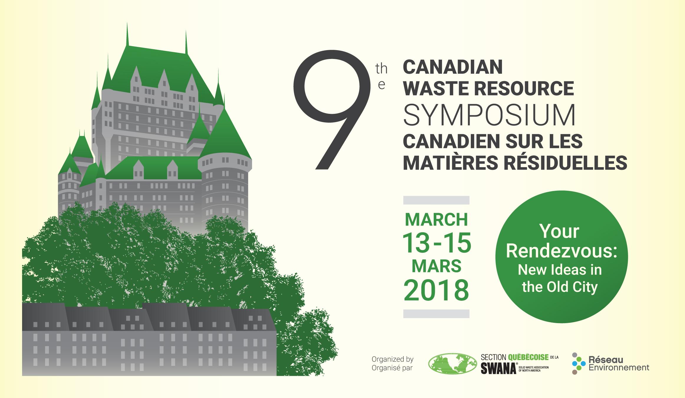 Symposium canadien sur les matières résiduelles par la Solid Waste Association of North America (SWANA)