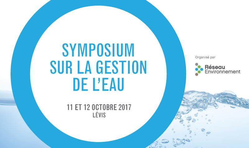 Le programme final du Symposium sur la gestion de l'eau