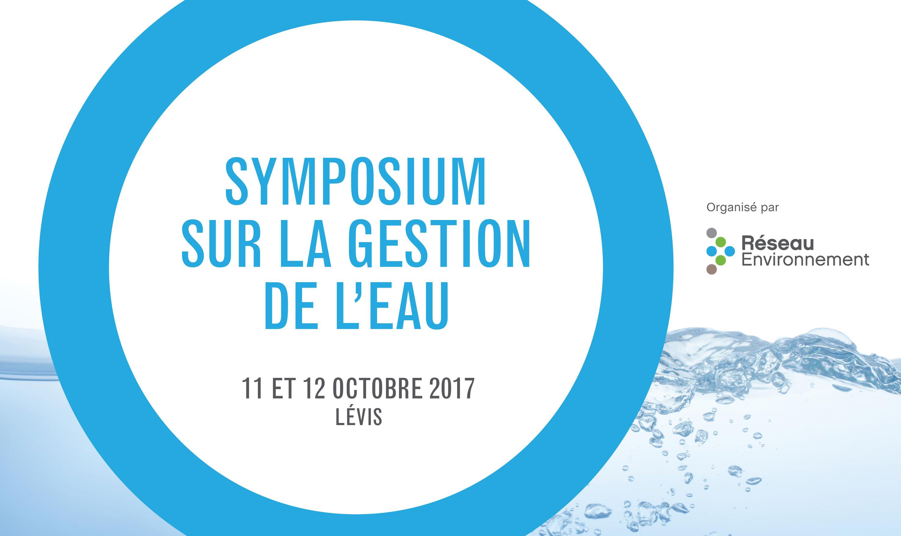 Programme du Symposium sur la gestion de l'eau