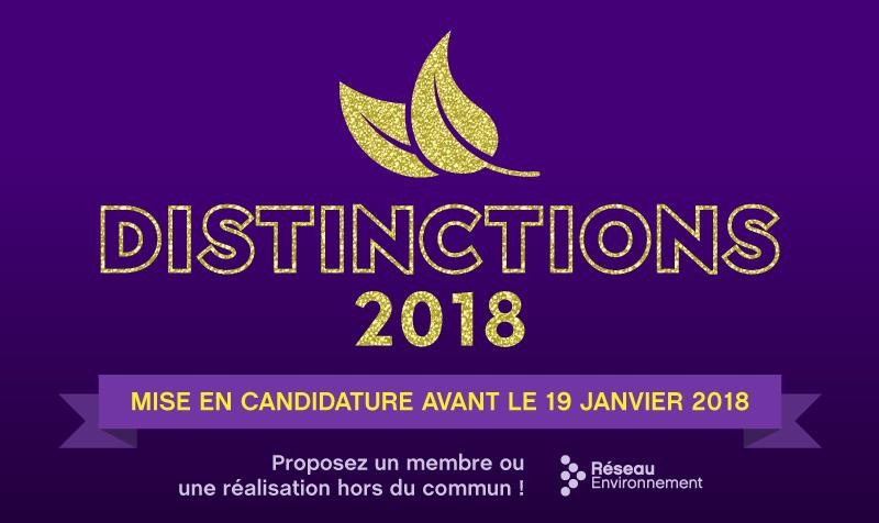 Lancement des mises en candidature des prix Distinctions 2018