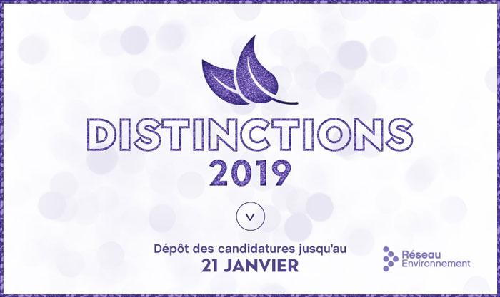 Ouverture des candidatures Distinctions 2019
